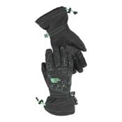 The North Face Youth Revelstroke Etip Kids Gloves, Asphalt Grey-Surf Green, medium