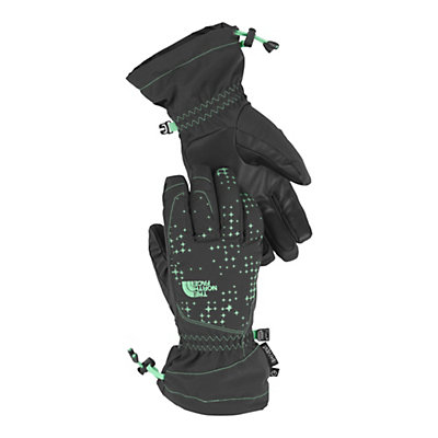The North Face Youth Revelstroke Etip Kids Gloves, Asphalt Grey-Surf Green, viewer