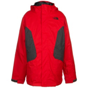 The North Face Boundary Triclimate Boys Ski Jacket, Fiery Red, medium
