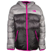 The North Face Reversible Moondoggy Girls Ski Jacket, Metallic Silver, medium