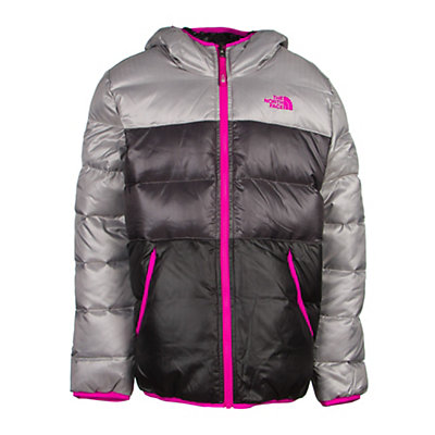 The North Face Reversible Moondoggy Girls Ski Jacket, Metallic Silver, viewer