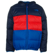 The North Face Reversible Moondoggy Boys Ski Jacket, Cosmic Blue, medium