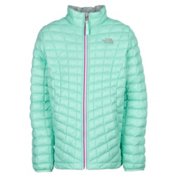 The North Face ThermoBall Full Zip Kids Midlayer, Surf Green, medium