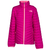 The North Face ThermoBall Full Zip Kids Midlayer, Luminous Pink, medium