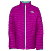 The North Face ThermoBall Full Zip Kids Midlayer, Magic Magenta, medium
