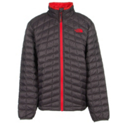 The North Face ThermoBall Full Zip Boys Kids Midlayer, Graphite Grey-Fiery Red, medium