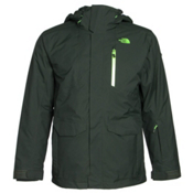 The North Face Thermoball Snow Triclimate Mens Insulated Ski Jacket, Dark Cedar Green, medium