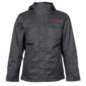 The North Face Clooney Triclimate Mens Insulated Ski Jacket, Asphalt Grey, medium