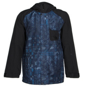 The North Face Number Eleven Mens Shell Ski Jacket, Cosmic Blue Faction Print-TNF, medium