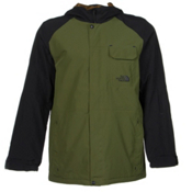 The North Face Number Eleven Mens Shell Ski Jacket, Scallion Green-TNF Black, medium