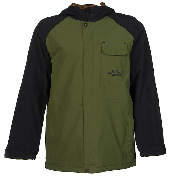 The North Face Number Eleven Mens Shell Ski Jacket, Scallion Green-TNF Black, 600