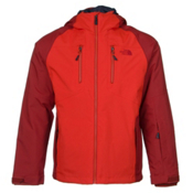The North Face Sumner Triclimate Mens Insulated Ski Jacket, Acrylic Orange-Caldera Red, medium