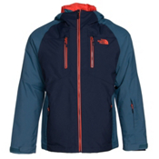 The North Face Sumner Triclimate Mens Insulated Ski Jacket, Cosmic Blue-Diesel Blue, medium