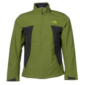 The North Face Apex Chromium Thermal Mens Soft Shell Jacket, Grip Green-Asphalt Grey Heathe, medium