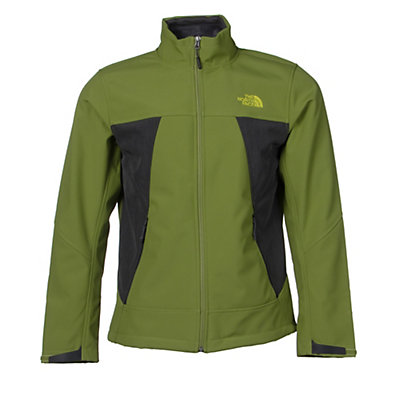 The North Face Apex Chromium Thermal Mens Soft Shell Jacket, Grip Green-Asphalt Grey Heathe, viewer