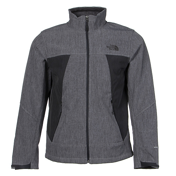 The North Face Apex Chromium Thermal Mens Soft Shell Jacket, High Rise Grey Heather-Asphalt, 600