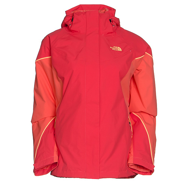 The North Face Boundary Triclimate Womens Insulated Ski Jacket (Previous Season), Melon Red-Radiant Orange-Impac, 600