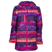 The North Face Wanda Womens Insulated Ski Jacket, Snowcone Red Mash Up Print, medium