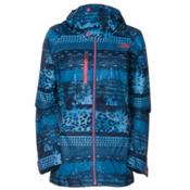 The North Face Wanda Womens Insulated Ski Jacket, Dish Blue Mash Up Print, medium