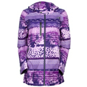 The North Face Wanda Womens Insulated Ski Jacket, Garnet Purple Mash Up Print, medium