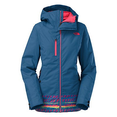 The North Face Wanda Womens Insulated Ski Jacket, Dish Blue Mash Up Print, viewer