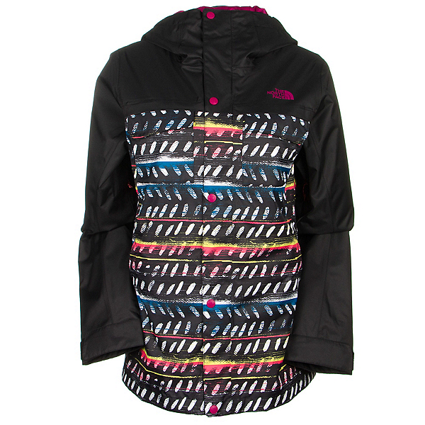 The North Face Ricas Womens Insulated Ski Jacket, TNF Black Ticky Tacky Print, 600