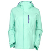 The North Face Jeppeson Womens Insulated Ski Jacket, Surf Green, medium