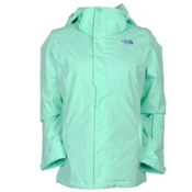The North Face Moonstruck Womens Insulated Ski Jacket, Surf Green, medium