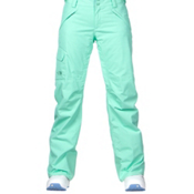 The North Face Freedom LRBC Insulated Womens Ski Pants, Surf Green, medium