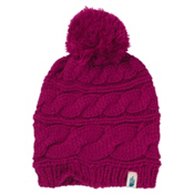 The North Face Triple Cable Pom Womens Hat, Dramatic Plum, medium