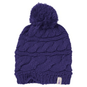 The North Face Triple Cable Pom Womens Hat, Garnet Purple, medium