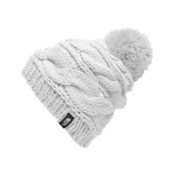 The North Face Triple Cable Pom Womens Hat, TNF White, medium