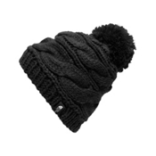 The North Face Triple Cable Pom Womens Hat, TNF Black, medium