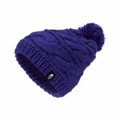 The North Face Triple Cable Pom Womens Hat, Inauguration Blue, medium