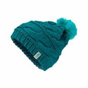 The North Face Triple Cable Pom Womens Hat, Harbor Blue-Vistula Blue, medium