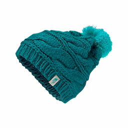 The North Face Triple Cable Pom Womens Hat, Harbor Blue-Vistula Blue, 256