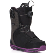 Salomon Ivy Boa Str8Jkt Womens Snowboard Boots, Black-Purple, medium