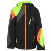 Spyder Avenger Boys Ski Jacket, Black-Bryte Yellow-Polar, medium