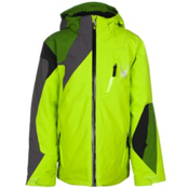 Spyder Avenger Boys Ski Jacket, Theory Green-Mountain Top-Pola, medium