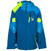 Spyder Leader Boys Ski Jacket (Previous Season), Concept Blue-Electric Blue-Bry, medium
