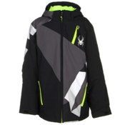 Spyder Enforcer Boys Ski Jacket, Black-Polar-Black Faceted Prin, medium