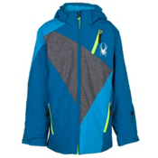 Spyder Enforcer Boys Ski Jacket, Concept Blue-Polar Wool Print-, medium
