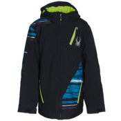 Spyder Enforcer Boys Ski Jacket (Previous Season), Black-Black-Electric Blue Scaf, medium