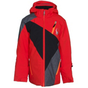 Spyder Enforcer Boys Ski Jacket (Previous Season), Volcano-Black-Polar Wool Print, medium