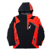 Spyder Challenger Boys Ski Jacket, Black-Volcano-Polar, medium