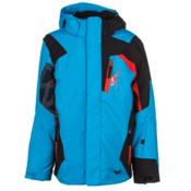 Spyder Challenger Boys Ski Jacket, Electric Blue-Black-Volcano, medium