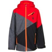 Spyder Ambush Boys Ski Jacket, Polar Wool Print-Volcano-Black, medium