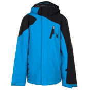 Spyder Guard Boys Ski Jacket, Electric Blue-Black, medium