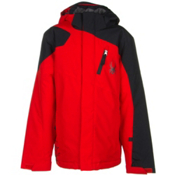 Spyder Guard Boys Ski Jacket (Previous Season), Volcano-Black, medium