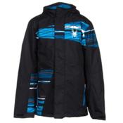 Spyder Snap Boys Ski Jacket, Black-Electric Blue Scaffoldin, medium